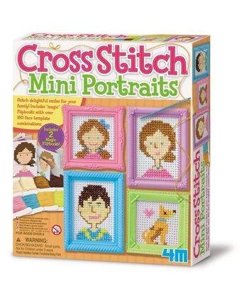 十字繡畫像 Cross Stitch Mini Portraits  迷你藝術刺繡畫 8-bit像素圖 獨特的十字繡