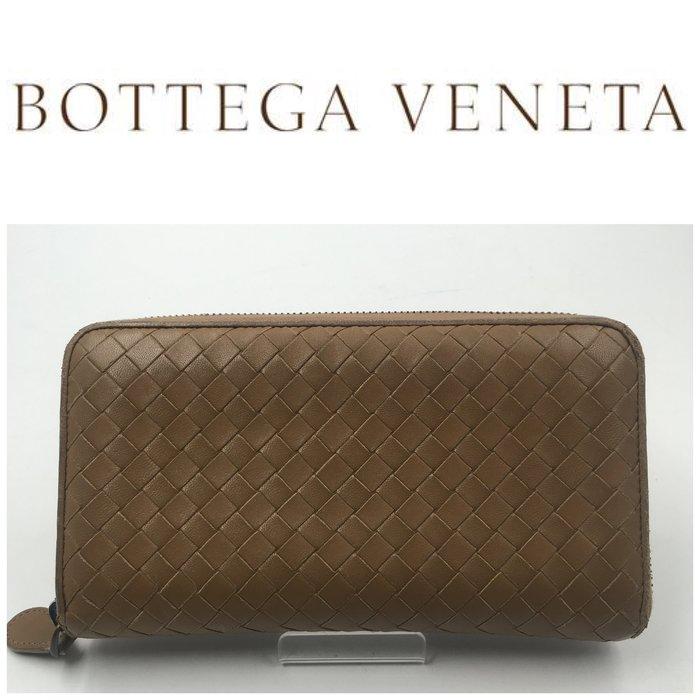 【皮老闆二店】二手真品 Bottega Veneta 錢包 皮夾 長夾 藍311