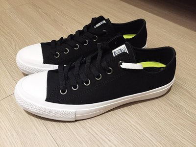 零碼五折FOCA Converse Chuck Taylor All Star II 2 帆布鞋 氣墊 黑 低筒  女鞋