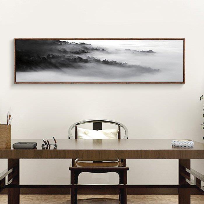 ART。DECO  黑白裝飾畫水墨山水國畫意境書房壁畫客廳沙發背景牆掛畫黑白風景山脈裝飾畫中國風黑白藝術掛畫(12款可選