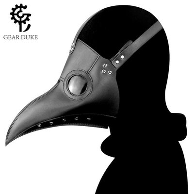 免運~~蒸汽朋克中世紀瘟疫醫生cos游戲動漫人物頭套烏鴉長鳥嘴面具男女