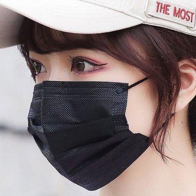 [韓娜]個性極緻黑簡潔黑百搭6片1組成人平面口罩(搜尋🔍韓娜口罩)絕美中之絕版款等您來收藏衛生品