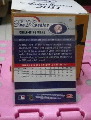 棒球天地---紐約洋基 國民 藍鳥 王建民 2003  ROOKIE 新人年簽名球員卡.字跡漂亮超稀少