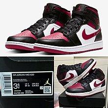 "(全新3.5Y = eur35.5) Air Jordan 1 Mid ""Bred Toe 黑紅腳趾"" AJ1 (GS) Nike 經典色 554725-066"