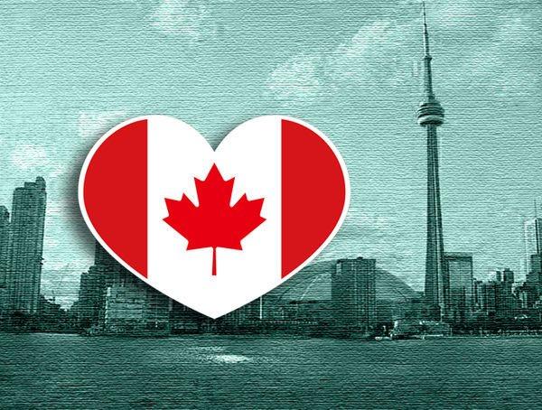 【衝浪小胖】加拿大國旗抗UV、防水愛心形登機箱貼紙/Canada/各國都有販賣和客製
