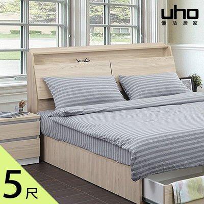床頭箱【UHO】艾美爾5尺雙人下掀式床頭箱 HO20-450