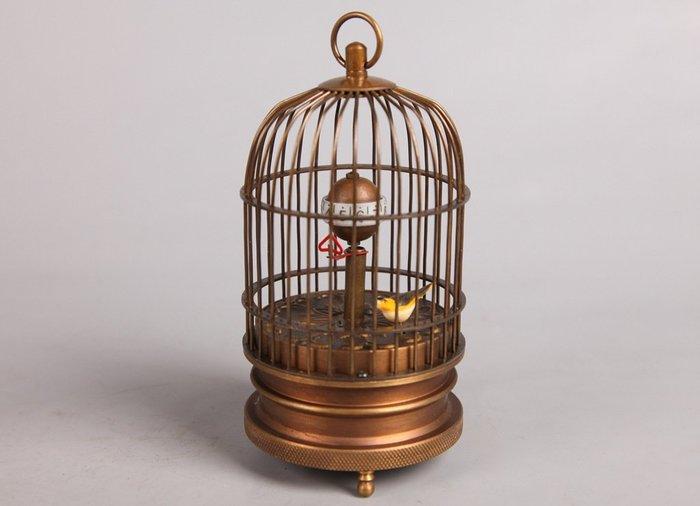 [免運] 昭和黃銅鳥籠機械座鐘