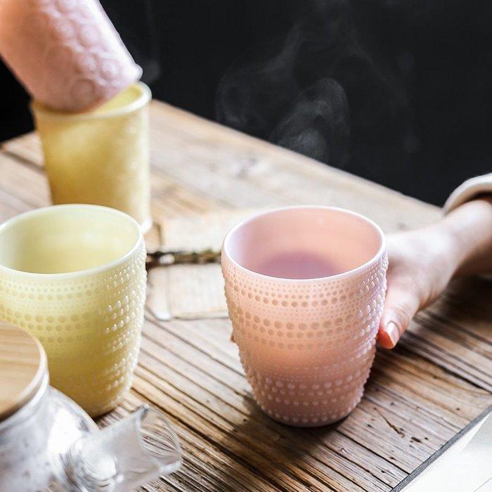 ins北歐風馬卡龍個性創意杯子家用水杯情侶杯玻璃杯牛奶杯【優品城】