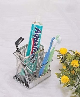☆成志金屬☆SA-1A不銹鋼單籃牙刷架可壁掛,可放4支牙刷材料實在價格保證好買,