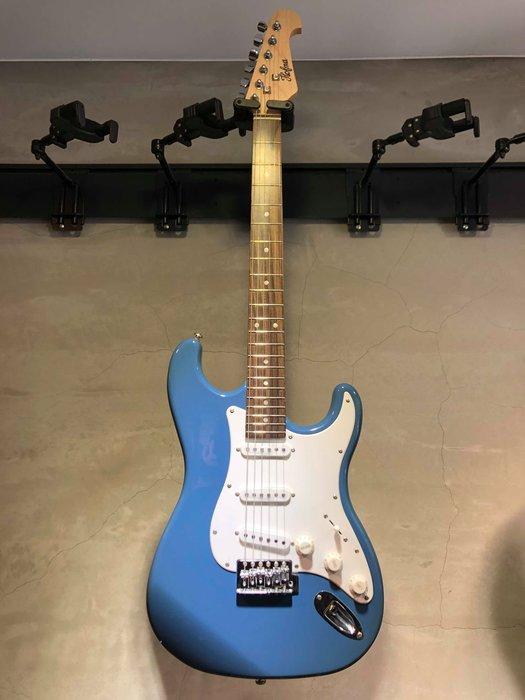【六絃樂器】全新精選 HOFMA ST型 藍色電吉他 / 現貨特價