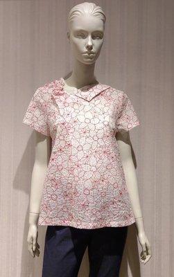 【璦婼芯精品iclothing】右領造型花紋上衣(102-1721)