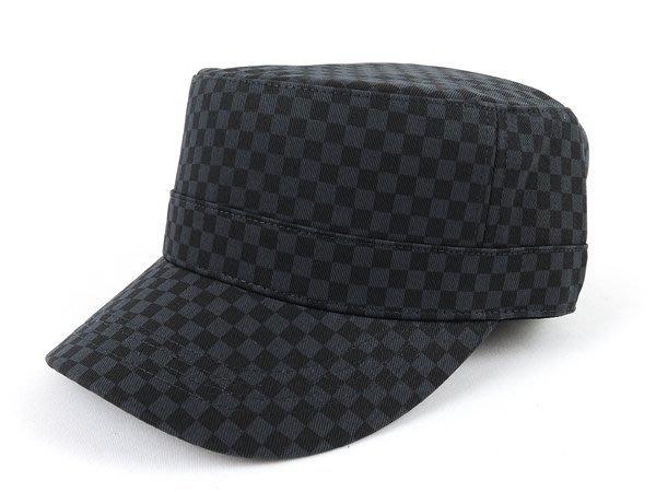【二鹿帽飾】男帽女帽 -新潮流時尚新風格 /英國倫格紋色 /後排汗網/ 硬挺 軍帽-MIT