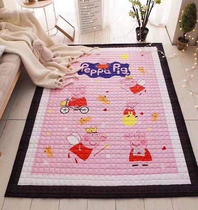 【Chubby Baby】150*200*1.5cm   北歐風 佩佩豬 丹麥原單 布地墊  棉質防滑地毯 寶寶地墊