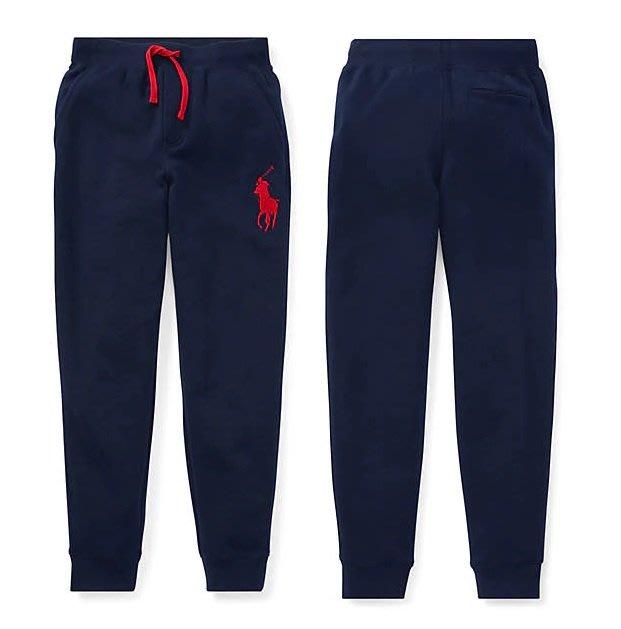 Polo Ralph Lauren 大男童 青年款 現貨 車繡 大馬 棉褲 長褲 運動褲 藍