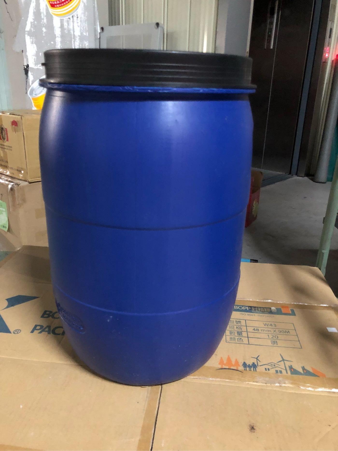 「目前缺貨中」原料桶塑膠桶可裝50公斤(50L)藍色密封桶