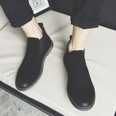 NYCT 韓國獨家限定高品質GD歐美熱賣頂級進口百搭時尚2016日系復古潮流反絨皮馬丁靴潮男時尚韓版短靴工裝靴男沙漠靴男