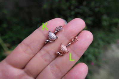 小號--S925純銀鑲水鑽 鋯石 平安扣 扣頭 緬甸玉 翡翠玉墜 掛件綁繩- 最大半徑1.10cm