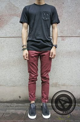 【A-KAY0】DICKIES 810【WP810OX】OXBLOOD 低腰窄版牛仔色褲 酒紅