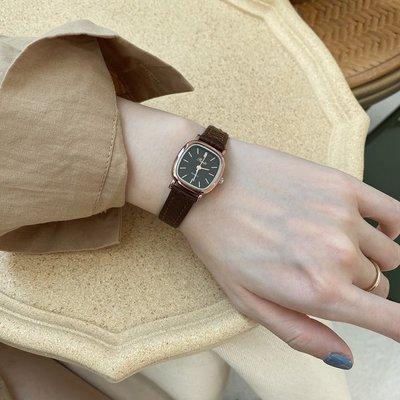 薇安手錶集市~handsmood 韓國簡約時尚ins風小方錶學生氣質百搭小眾皮帶手錶女