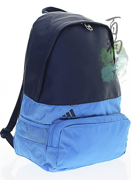 百狗包包 Adidas Der BP M Mat 1 風行者復古風格後背包 藍色/皮革/帆布 可放置筆電 輕量 M66951