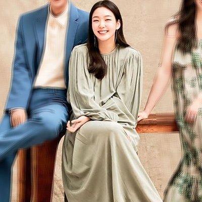 預購-韓劇同款The King 永遠的君主金高銀同款氣質長款純色連身裙