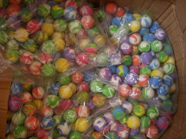 小猴子玩具鋪~~全新直徑2.7公分多款花色彈力球(一套100顆).特價:300元/套
