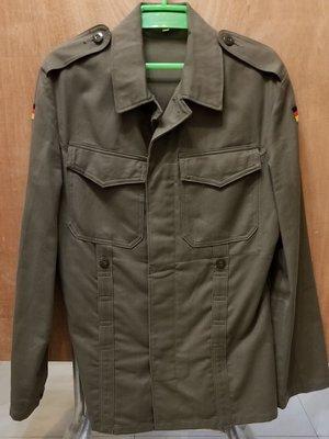 德軍 西德野戰Moleskin外套 灰綠色 收腰款