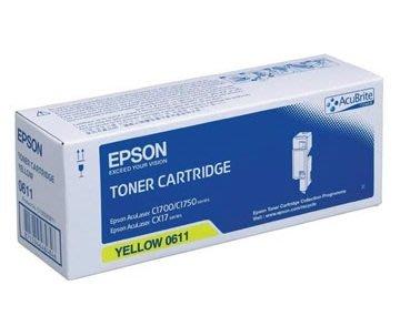 麗康墨盒 Epson C13S050611 (CX17/ C1700) 加大裝 黃色 Yellow 全新原裝碳粉盒 香港行貨保養