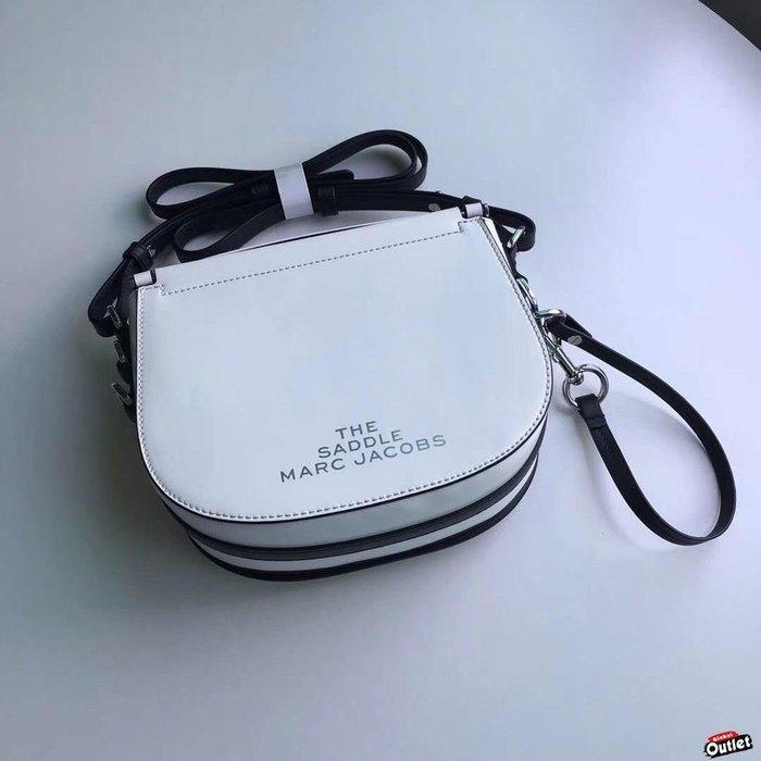 【全球購.COM /】MARCJACOBS MJ 2020 新款 雙j馬鞍包 白色 美國outlet出清