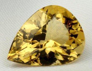 典藏最完美的一顆金黃寶(金黃色綠柱石)17.55克拉【個人收藏 非店舖】