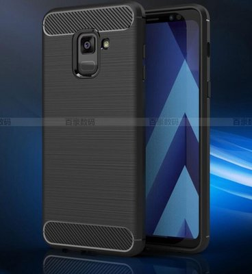 SamSung A8 2018款 碳纖維拉絲手機套 盔甲套保護殼 Galaxy A8 plus 2018 手機套 手機保護防摔殼
