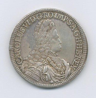 1711-40奧地利(大型2泰勒老銀幣57g)很少見 PCGS- Tooled-AU98-Detail  極美品