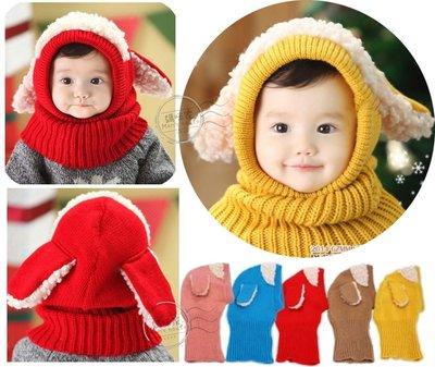 媽咪家~R073~R73綿羊套頭帽 毛線 針織 動物  連帽 脖圍 圍脖 針織帽 套頭帽