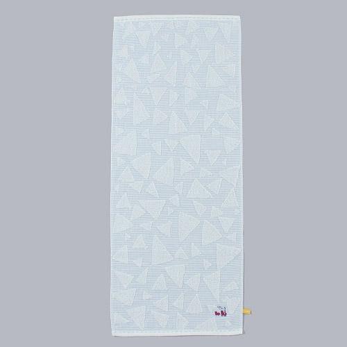 日本製 幾何圖火車長毛巾