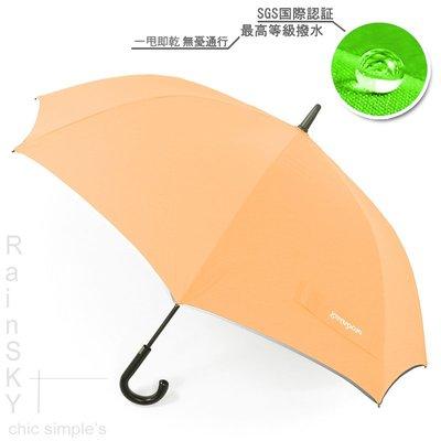 【RainSky雨傘】SWR-45吋_嵌入式直立機能傘(螢橘) /  雨傘自動傘防風傘大傘抗UV傘直傘撥水傘防潑傘(免運) 新北市