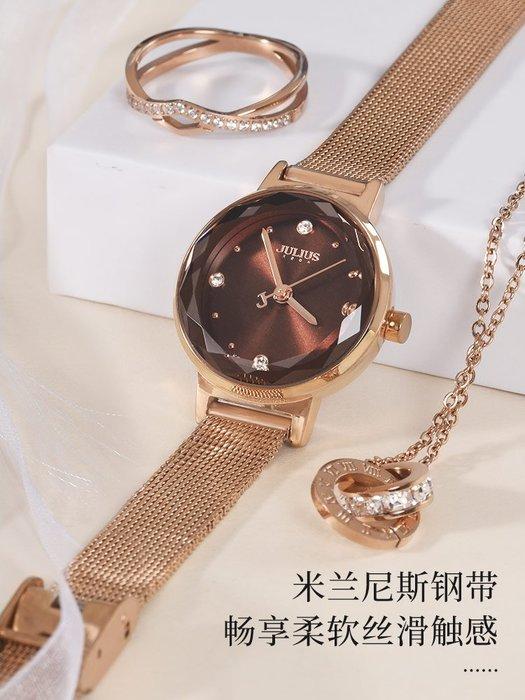 888利是鋪-聚利時julius手表女學生ins風韓版簡約年新款時尚潮流鋼帶表#手錶