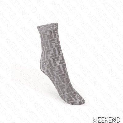 【WEEKEND】 FENDI FF Prints On 襪子 短襪 銀灰色 19秋冬 限定款