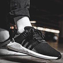 【路克球鞋小天地】愛迪達Adidas EQT Support 93/17 黑白編織 休閒鞋 窪塚洋介 GD 慢跑鞋
