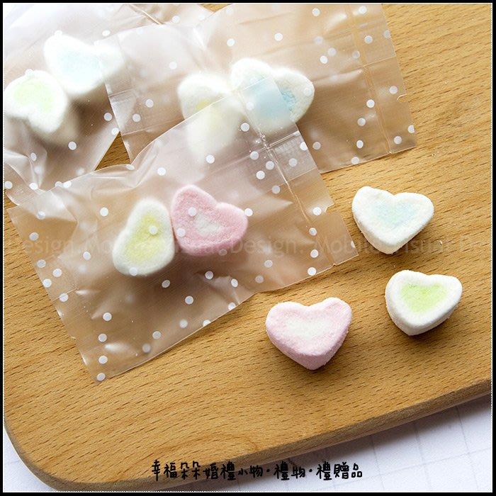 點點磨砂袋裝「迷你心棉花糖2顆入」-喜糖/生日分享/創意糖果/婚禮禮物/聖誕節/情人節/二次進場/婚禮小物/幸福朵朵