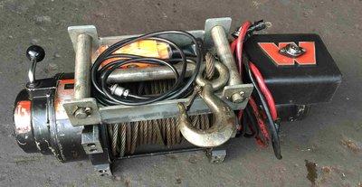 美國WARN M12000型 車用24V電動油壓絞盤 WINCH 5400KG 電動捲揚機、車用拖車,拖木頭、捲揚機
