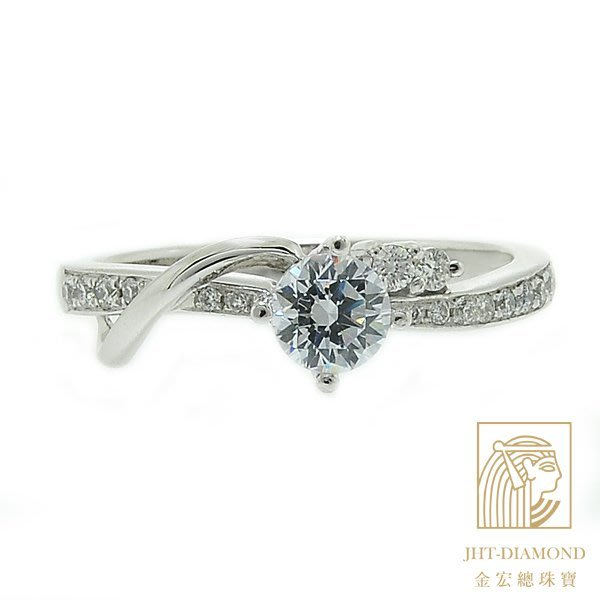 【JHT 金宏總珠寶/GIA專賣】婚戒/鑽戒 女鑽石戒台 (不含搭配主鑽)JRM070