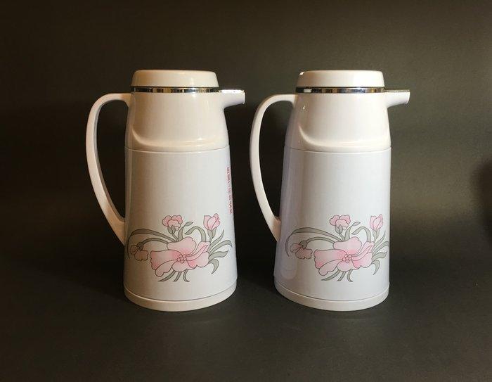 民國76年 普普風 熱水壺 玻璃內膽 熱水瓶 未使用庫存品 附紙盒 拍戲道具