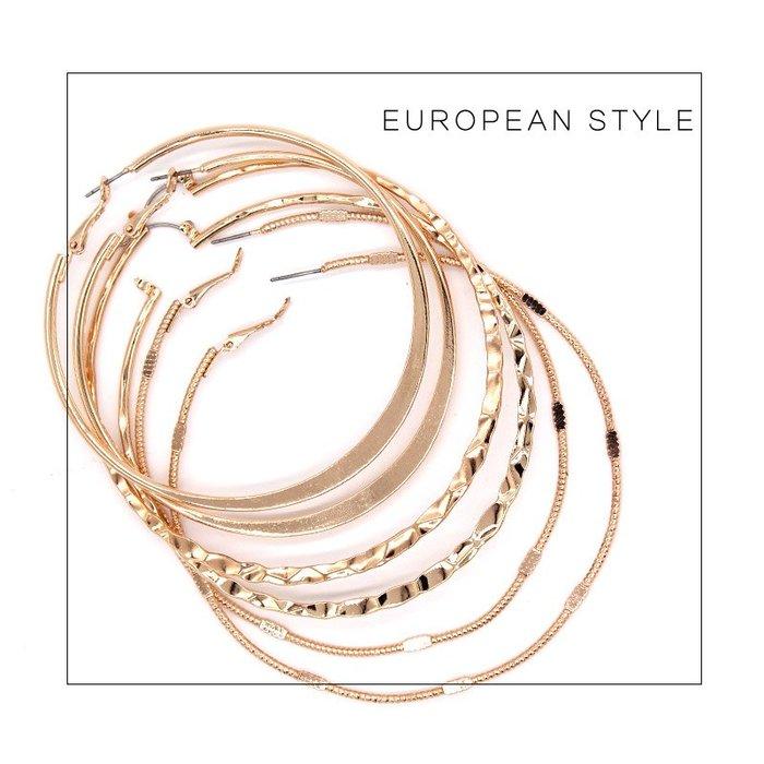 [C.M.平價精品館]現貨出清特價/歐洲風修飾臉型簡單華麗大環針式耳環