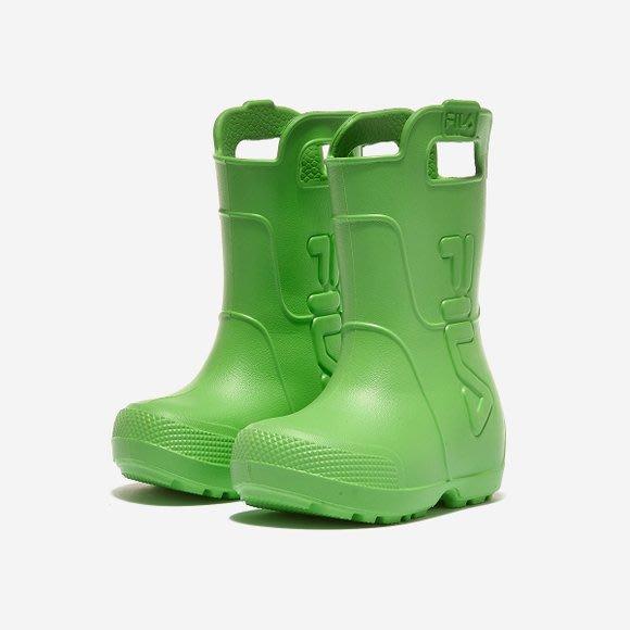 【Luxury】FILA Rain Flex 兒童雨鞋 中童雨鞋 男女童 防滑 粉 綠 藍 黃 韓國正品代購