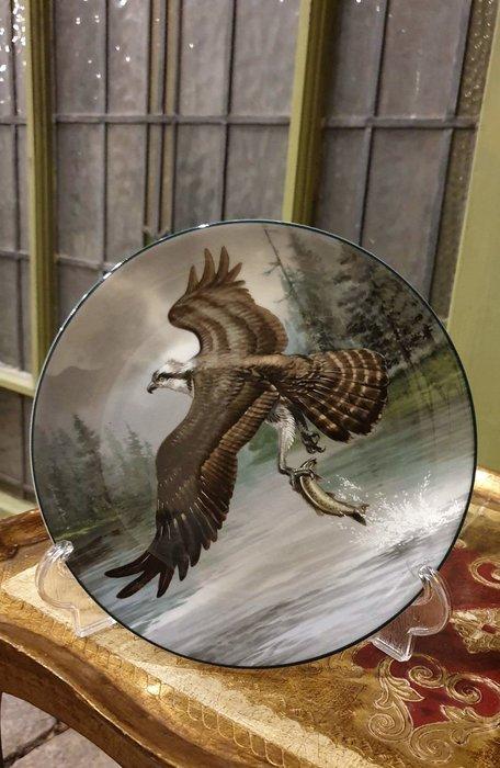 【卡卡頌  歐洲古董】WEDGWOOD 緯緻活 英國(老件未用) 藝術家 簽名 老鷹 裝飾盤 p1740 ✬