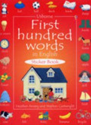 *小貝比的家*USBORNE FIRST HUNDRED WORDS IN ENGLISH /貼紙書