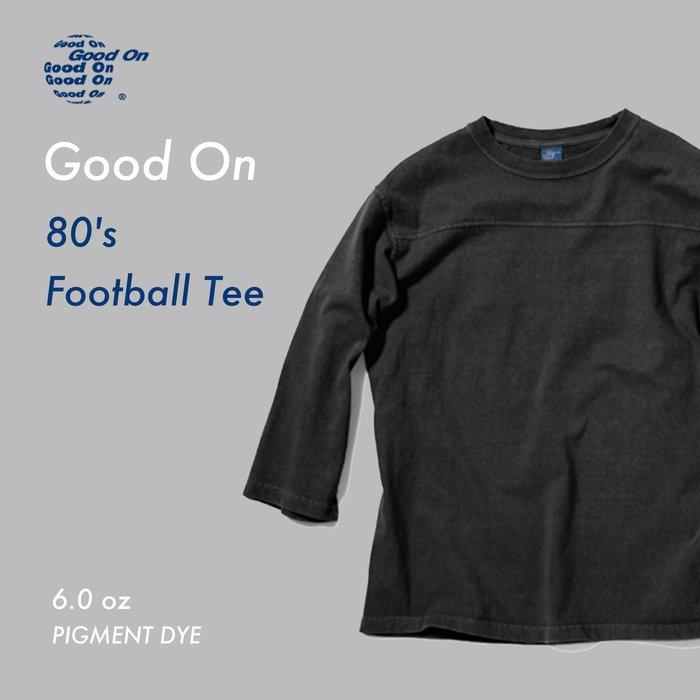 WaShiDa【golt1502c】Good On 日本品牌 80's Football Tee 七分袖 美式足球 T恤