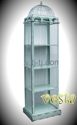 *Vesta 維斯塔*Loft 全鐵鳥籠造型四層架/超大尺寸