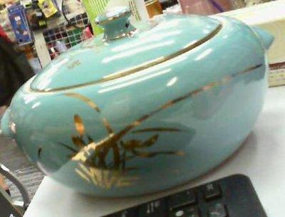 古典收藏 金門陶瓷汽鍋 氣鍋