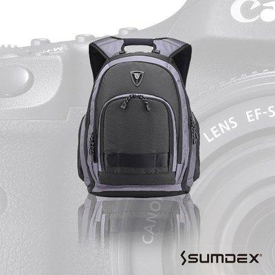 加賀二館 SUMDEX  X-sac 雨防護相機 電腦旅行背包 男士後背包 帆布包 休閒雙肩包PON-395
